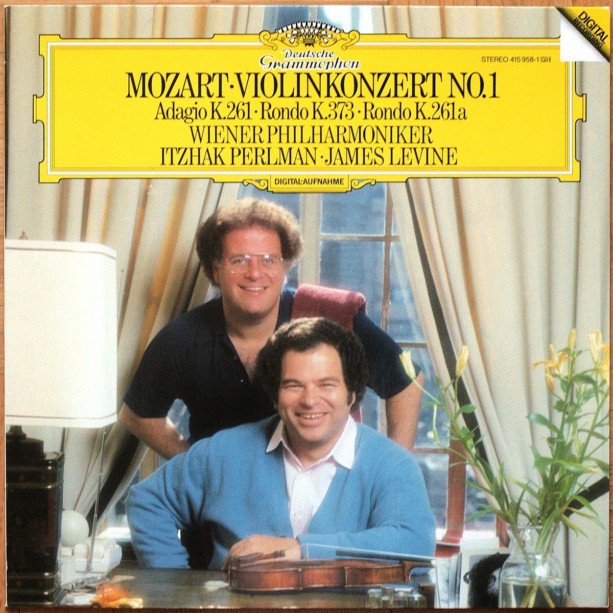 DGG 415 958 Mozart Concerto Violon 1 Perlman Levine DGG Digital Aufnahme