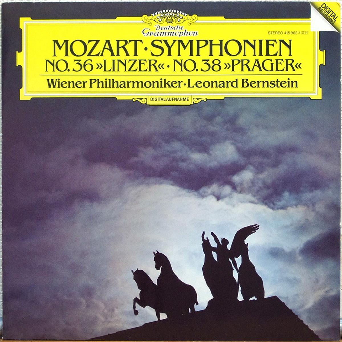 DGG 415 962 Mozart Symphonies 36 38 Bernstein DGG Digital Aufnahme