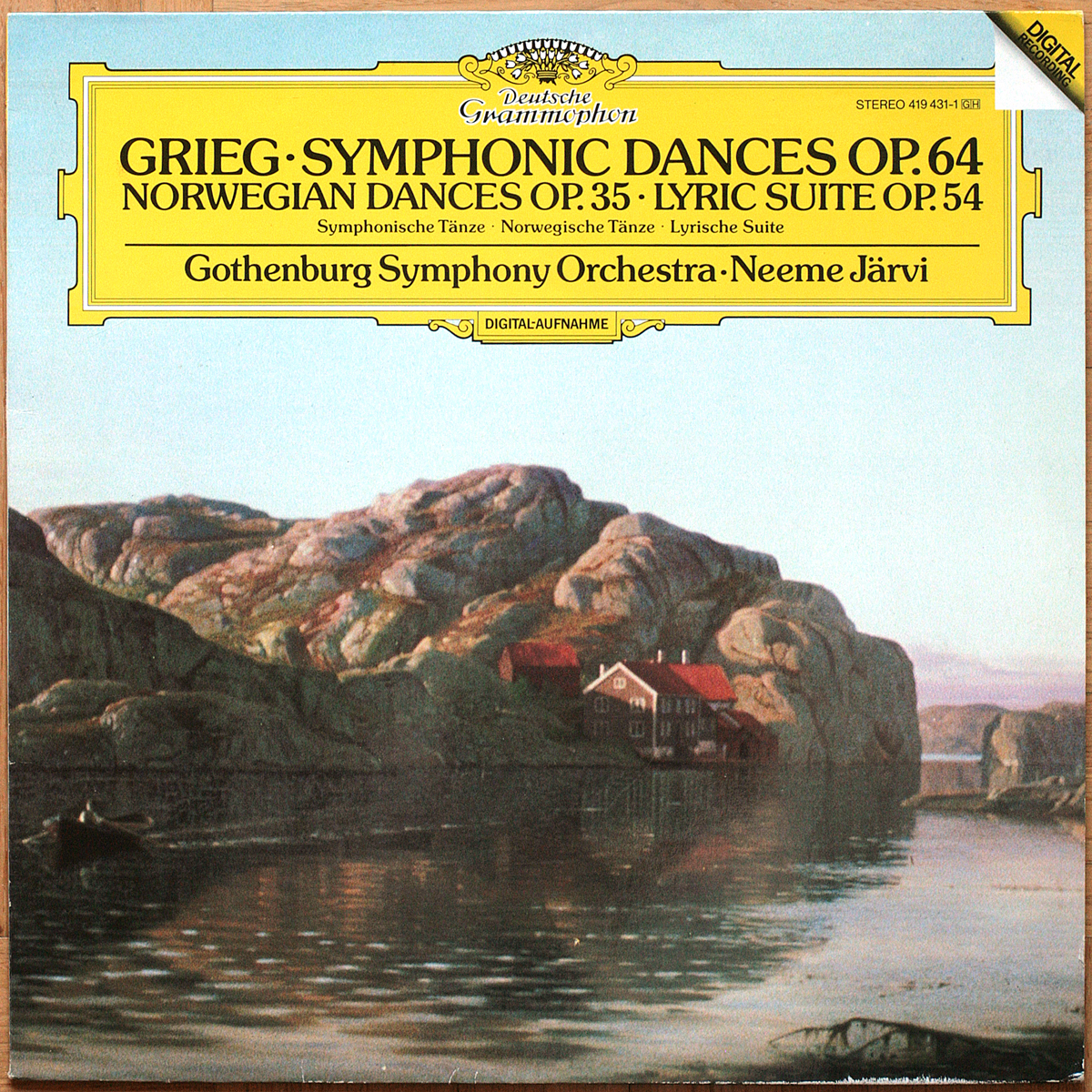 DGG 419 431 Grieg Symphonic & Norwegian Dances Lyric Suite Jarvi Digital Aufnahme