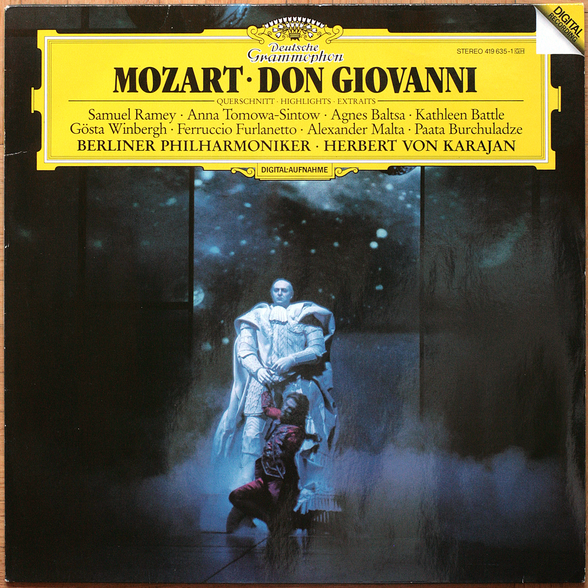DGG 419 635 Mozart Don Giovanni Highlights Karajan DGG Digital Aufnahme