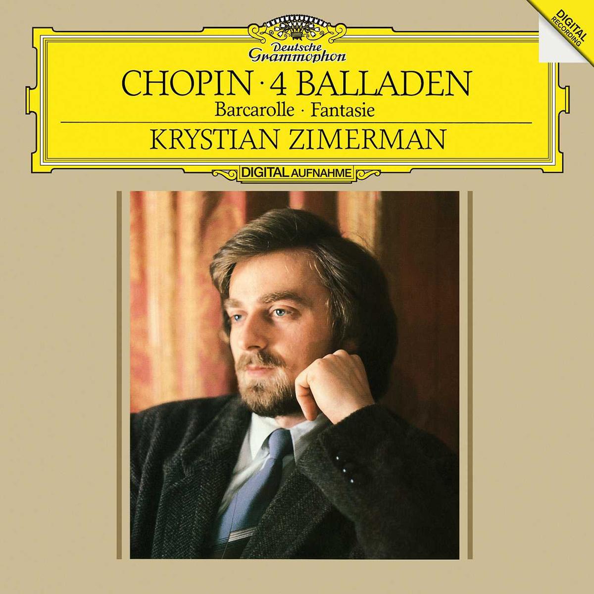 DGG 423 090 Chopin Ballades Barcarolle Fantaisie Zimerman DGG Digital Aufnahme