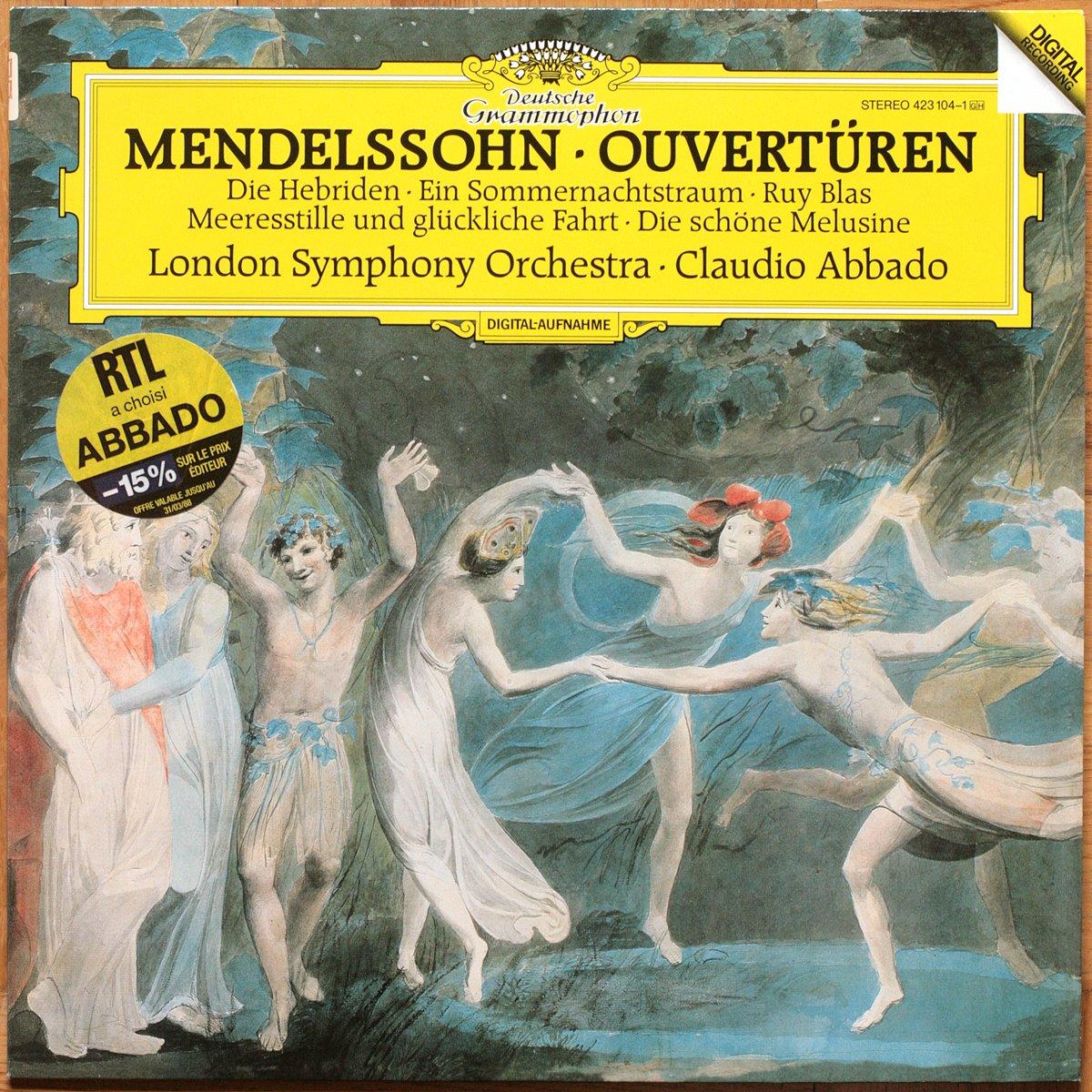 DGG 423 104 Mendelssohn Ouvertures Abbado