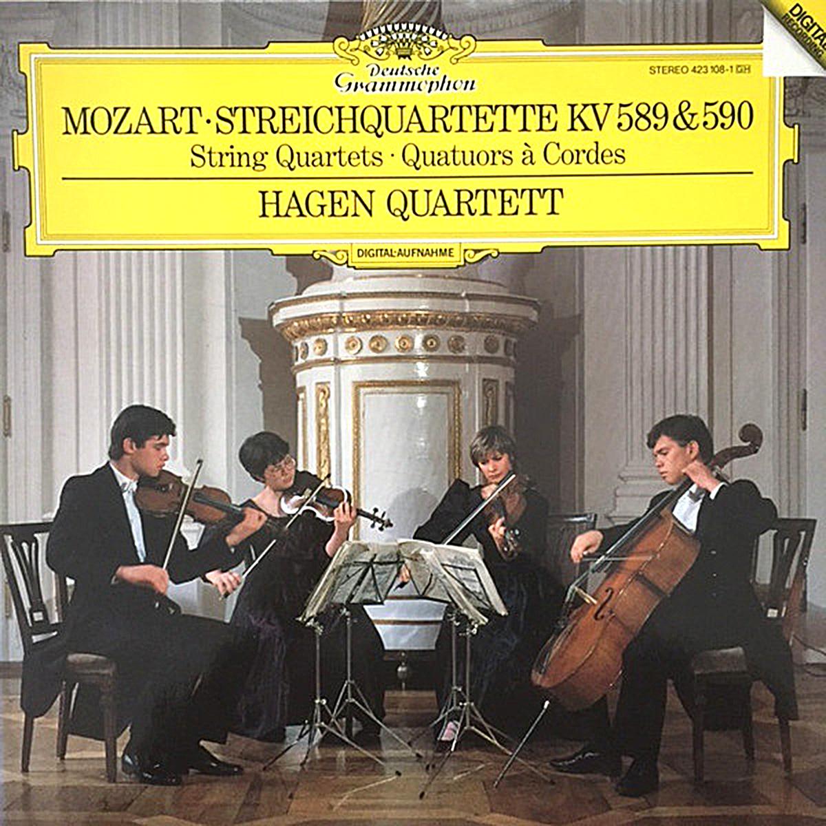 DGG 423 108_Mozart Quatuors KV 589 590 Hagen Quartett DGG Digital Aufnahme