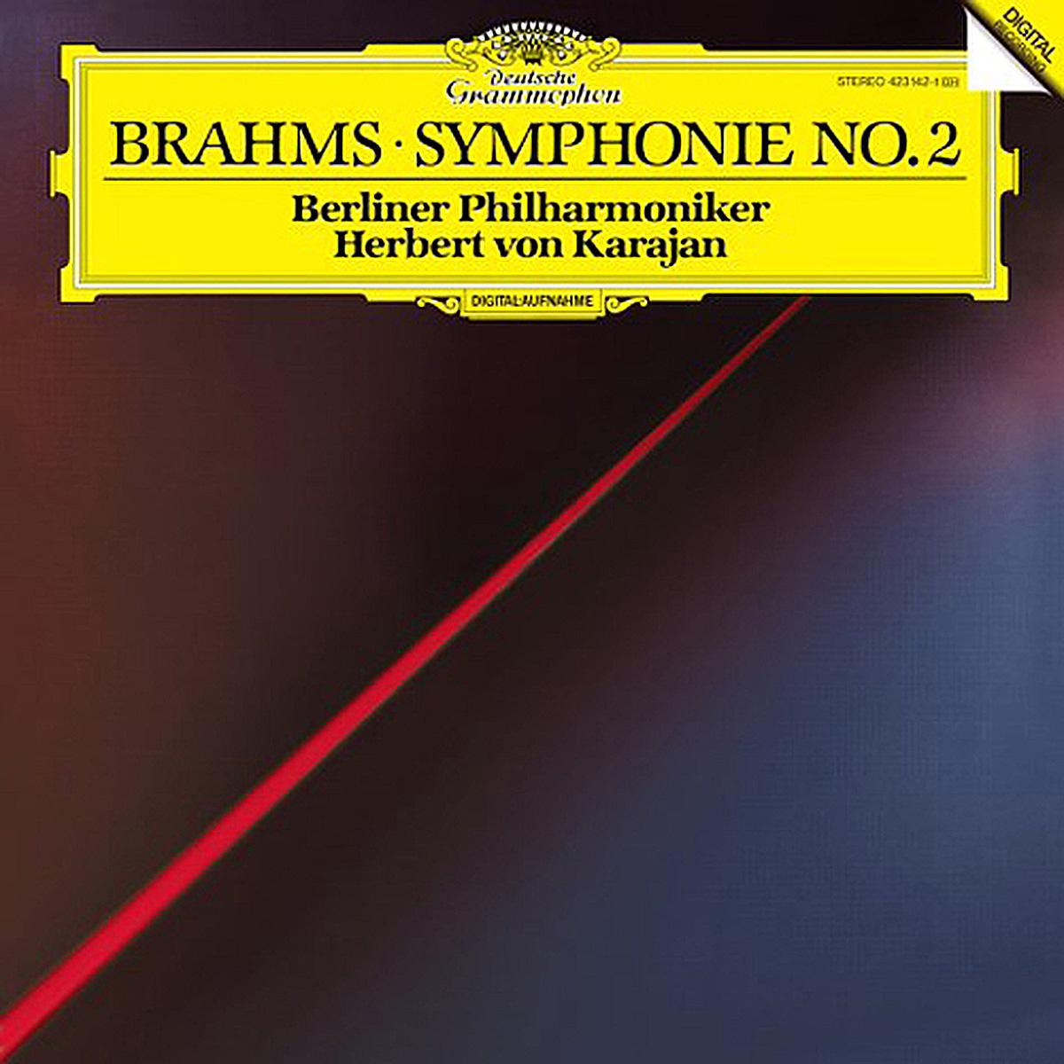 DGG 423 142 Brahms Symphonie 2 Karajan DGG Digital Aufnahme