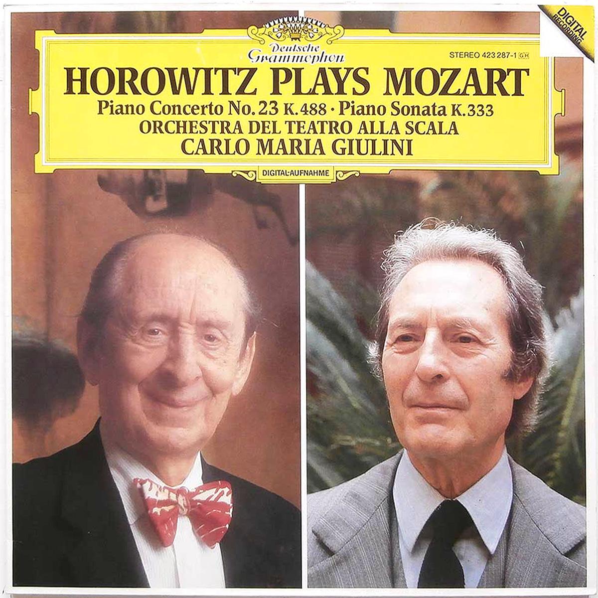 DGG 423 287 Mozart Concerto Piano 23 Sonate Horowitz Giulini DGG Digital Aufnahme
