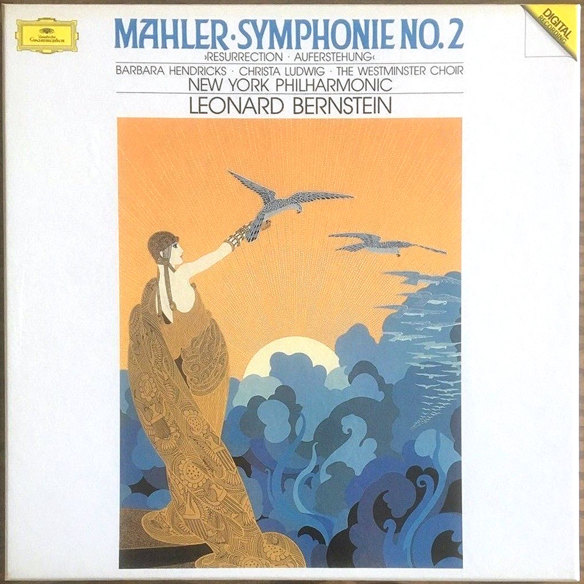 DGG 423 395 Mahler Symphonie 2 Bernstein DGG Digital Aufnahme