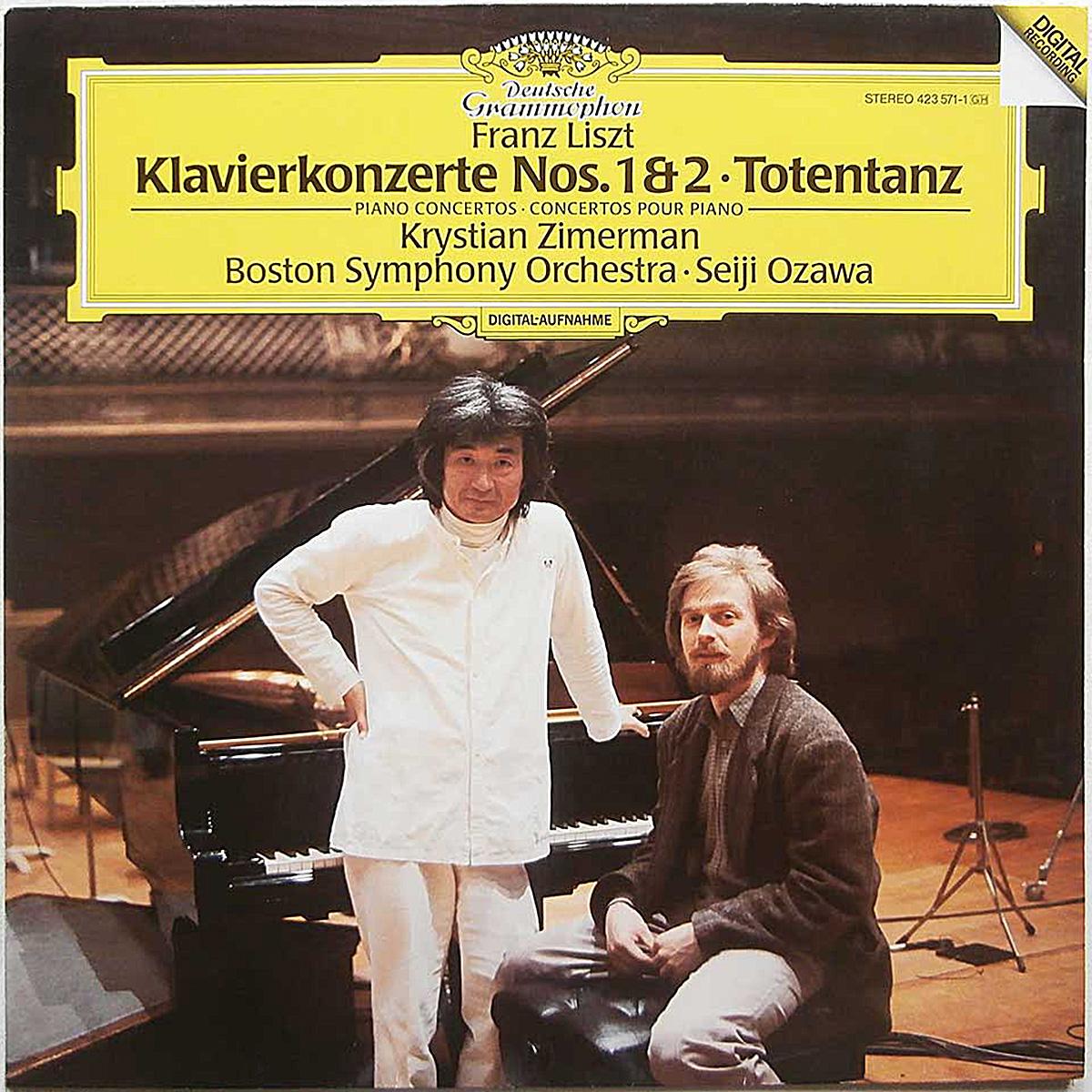 DGG 423 571 Liszt Concertos_Piano 1 2 Zimerman Osawa DGG Digital Aufnahme