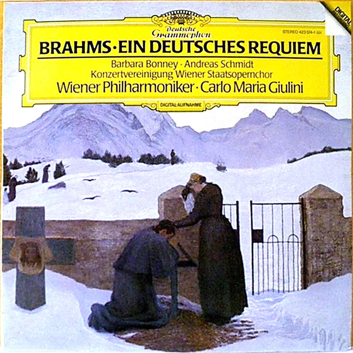 DGG 423 574 Brahms Deutsches Requiem Giulini DGG Digital Aufnahme