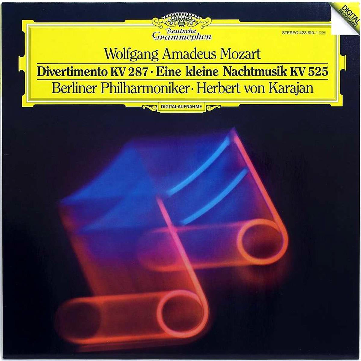 DGG 423 610 Mozart Divertimento Eine Kleine Nachtmusik Karajan DGG Digital Aufnahme