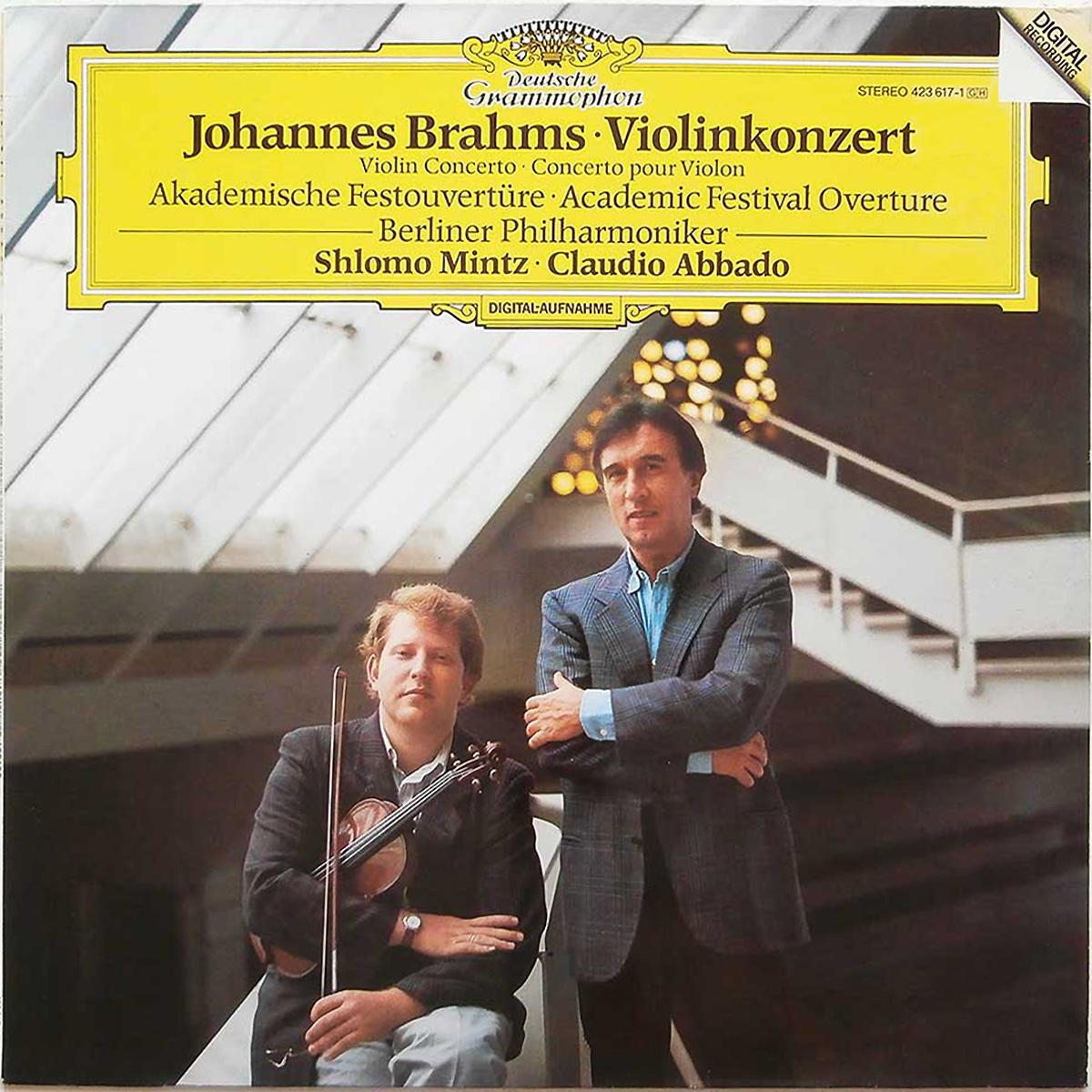 DGG 423 617 Brahms Concerto Violon Akademische Festouvertüre Abbado DGG Digital Aufnahme
