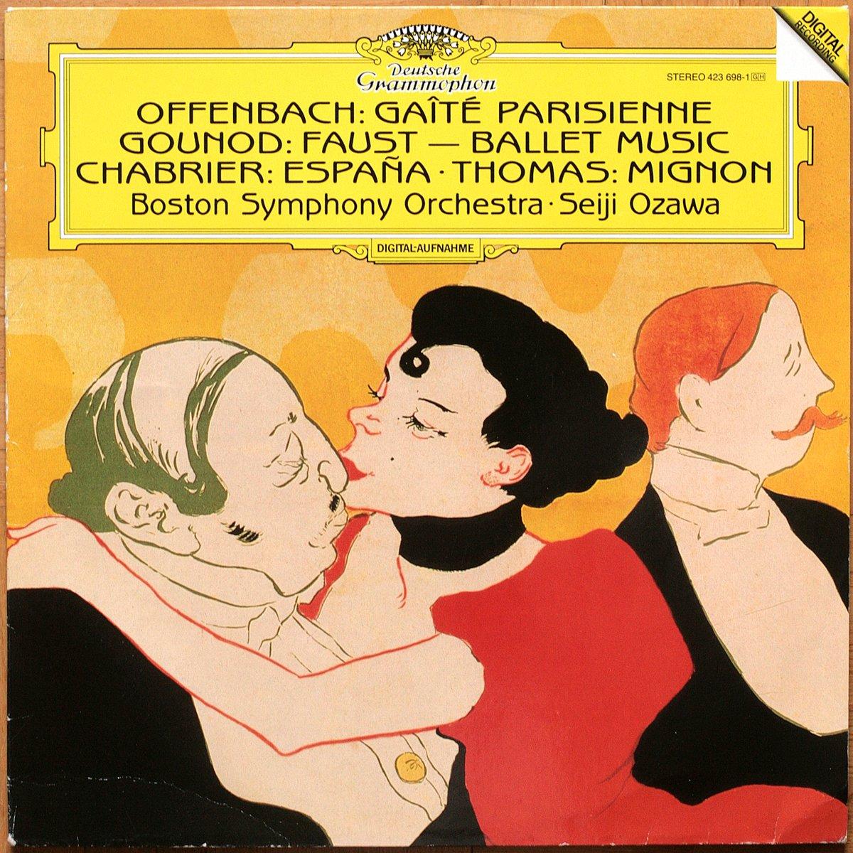 DGG 423 698 Offenbach Gaité Parisienne Gounod Faust Chabrier Espana Thomas MignonOzawa DGG Digital Aufnahme
