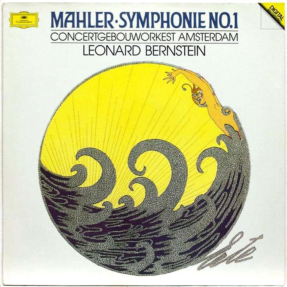 DGG 427 303 Mahler Symphonie 1 Bernstein DGG Digital Aufnahme