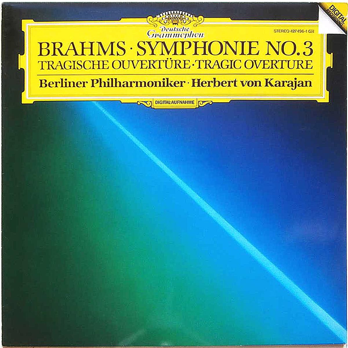 DGG 427 496 Brahms Symphonie 3 Karajan DGG Digital Aufnahme