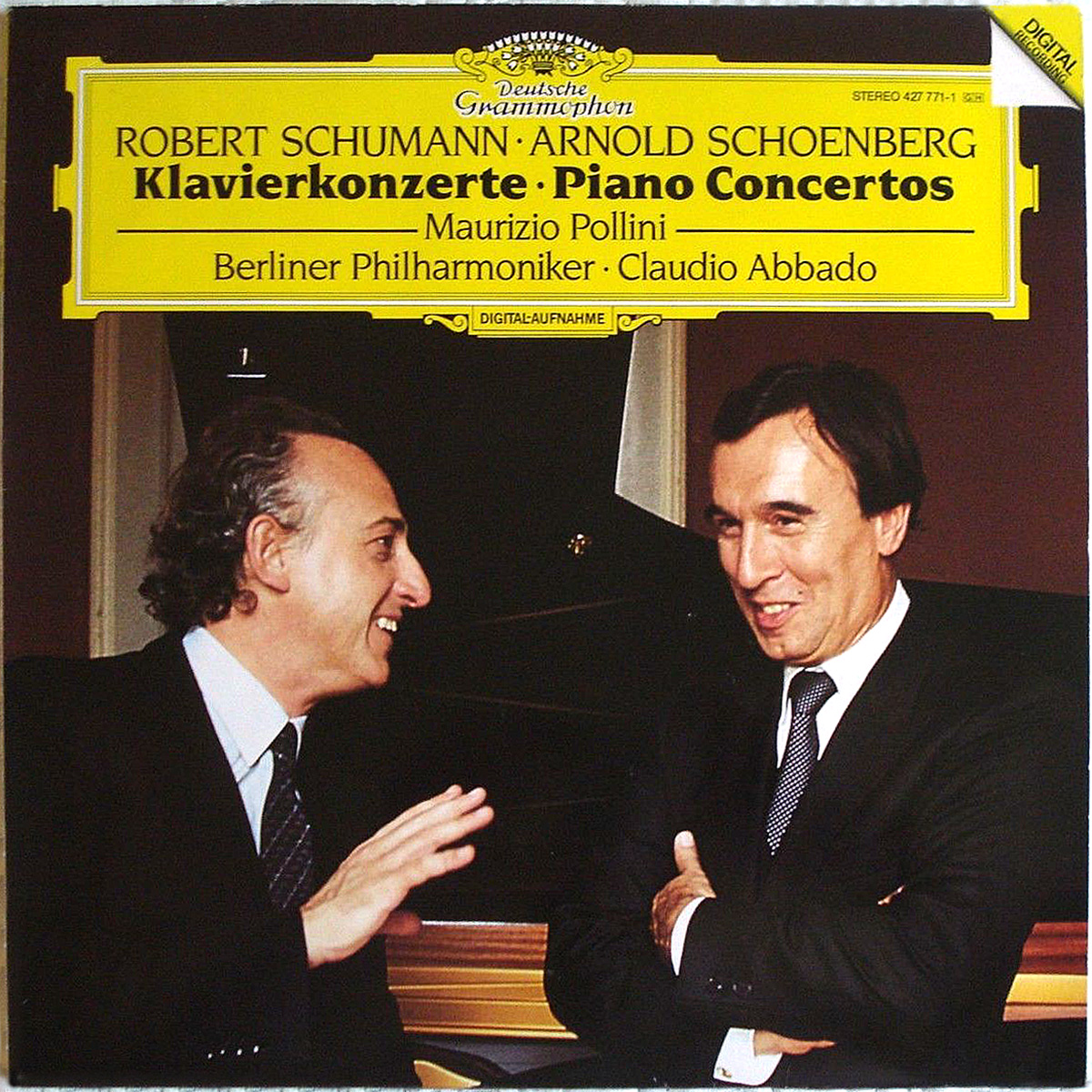 DGG 427 771 Schumann_Schoenberg_Concerto Piano Pollini Abbado DGG Digital Aufnahme