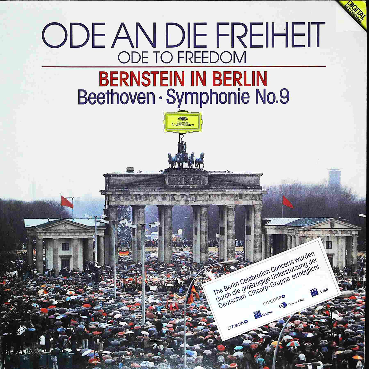 DGG 429 861 Beethoven Symphonie 9 Bernstein Berlin DGG Digital Aufnahme
