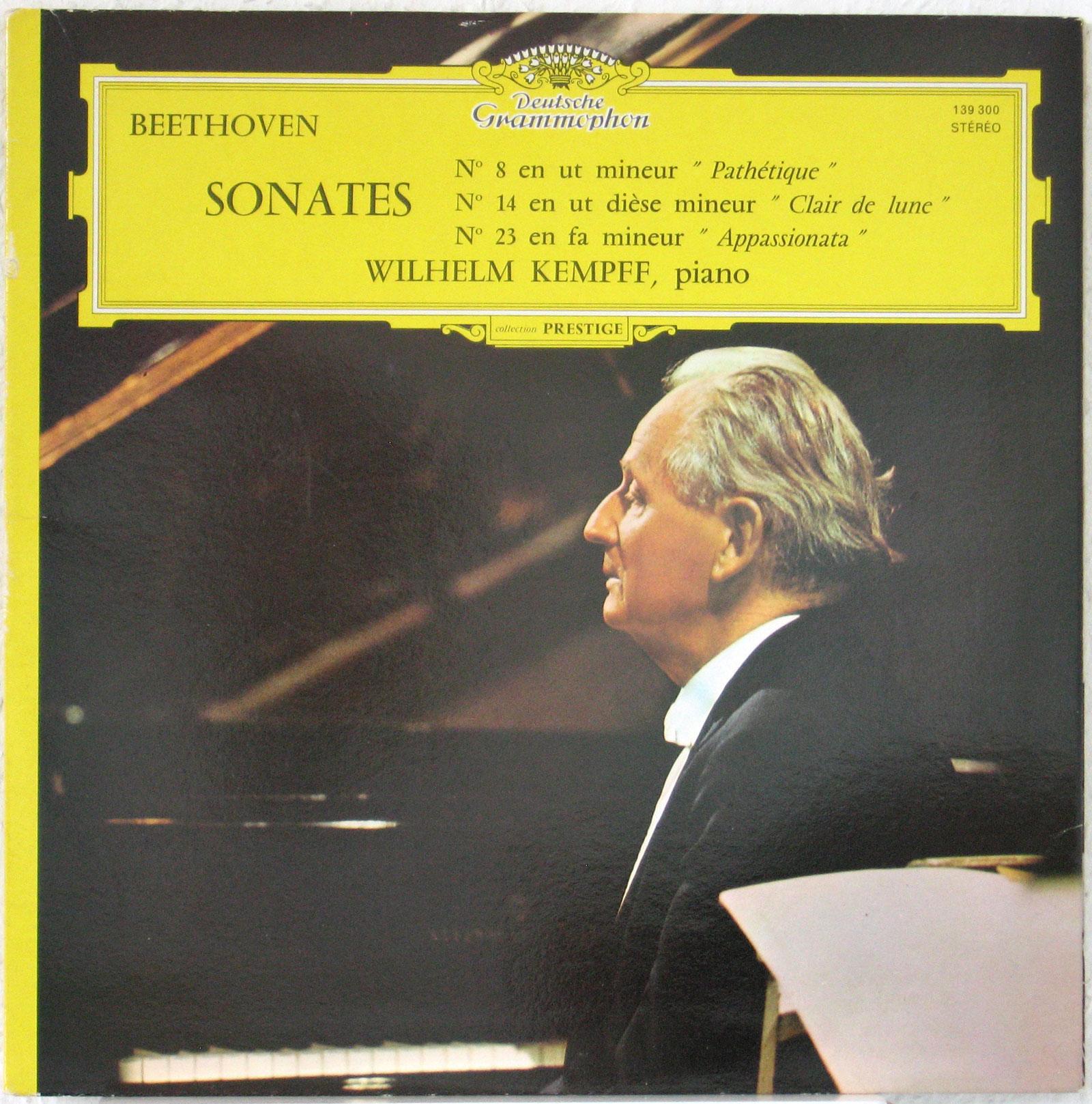 """Beethoven Sonates n° 8 """"Pathétique"""" & 14 """"Mondschein"""" & 23 """"Appassionata"""" DGG 139 300 Wilhelm Kempff"""