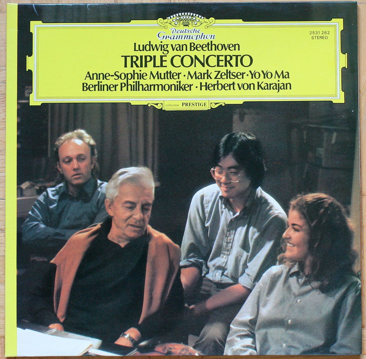Beethoven Tripelkonzert Triple concerto DGG 2531 262 • Anne-Sophie Mutter Zeltser Yo Yo Ma Karajan