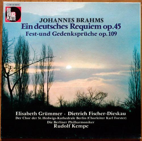 Brahms Ein deutsches Requiem Kempe Grümmer Fischer-Dieskau Kempe