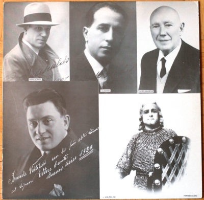 Italian tenors of the 1920s Radaelli Chiaia Menescaldi Paganelli Parmeggiani Voyer Bergamaschi Volpi Garutti Bendinelli Voltolini