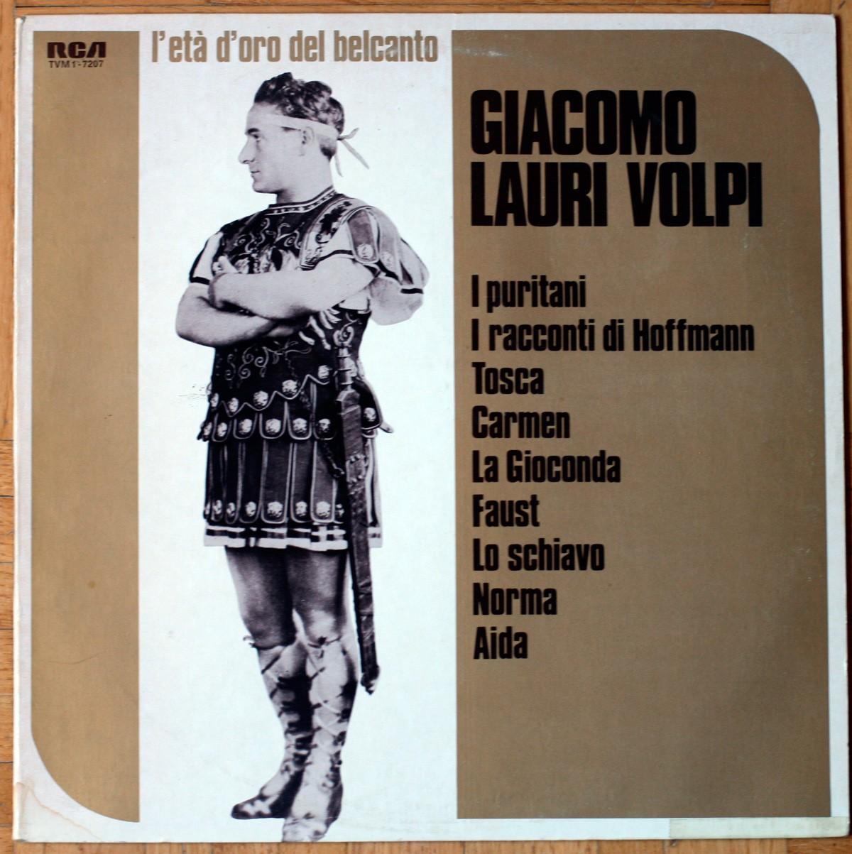 Giacomo Lauri Volpi L'età d'oro del belcanto Bellini Offenbach Puccini Bizet Ponchielli Gounod Verdi