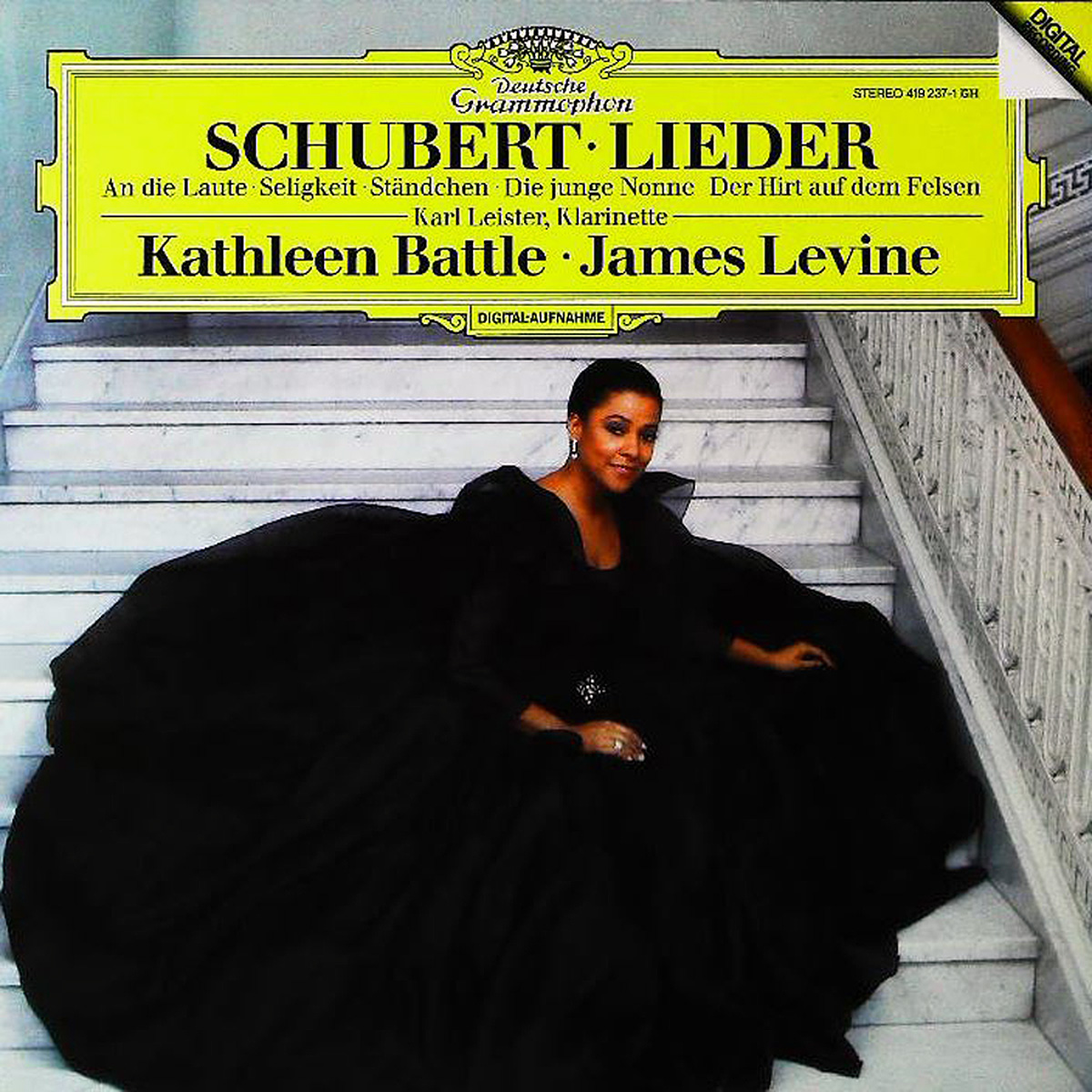 DGG 419 237 Schubert Lieder Battle Levine