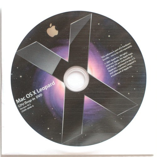 Apple Macintosh • Set d'installation • Install software • OSX 10.5 • Leopard Software • CPU Drop-in kit DVD