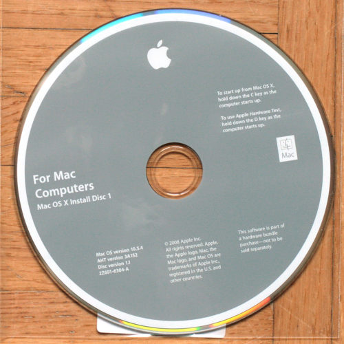 Apple Macintosh • iMac Intel Core 2 Duo • Set d'installation • Install software • OSX 10.5.4 • Leopard Software