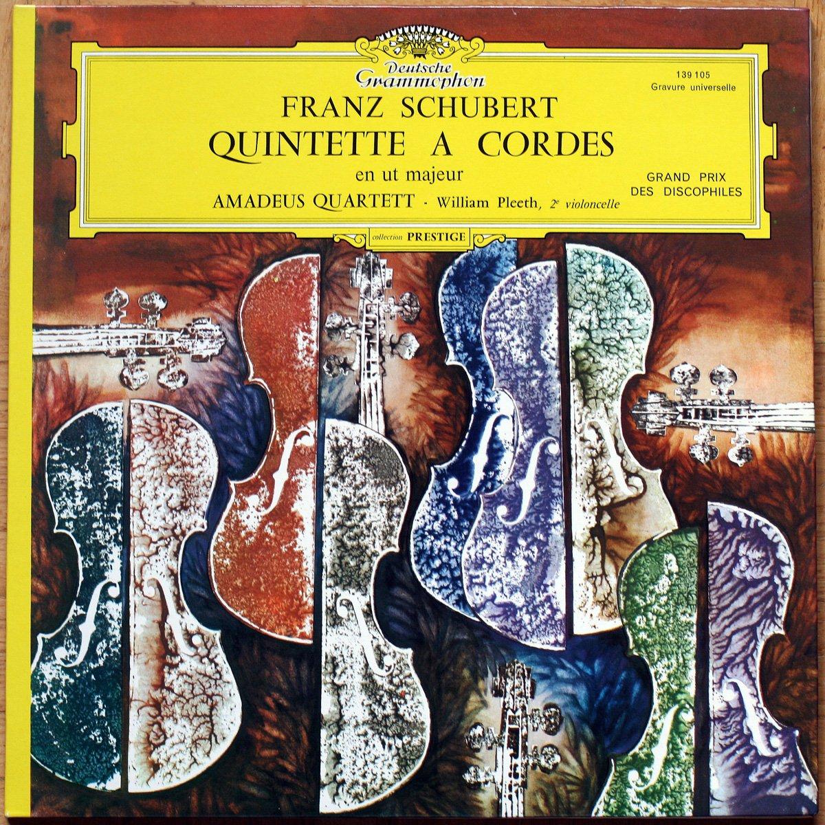 Schubert Streichquintett C-dur Quintette à cordes en Ut Majeur D. 956 DGG 139 105 William Pleeth Amadeus Quartett
