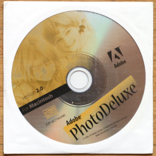 Adobe PhotoDeluxe 2.0 • Apple Macintosh • CD d'installation • Install software • MacOS 7.2 • 1996