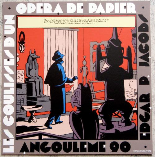 Edgard P. Jacobs • Blake et Mortimer • Les coulisses d'un opéra de papier • Sérigraphie • Neuve • Archives Internationales • 1990