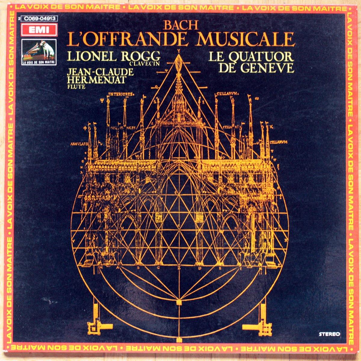 Bach • L'offrande musicale • Musikalisches Opfer • BWV 1079 • Trio pour flûte & violon & continuo • Lionel Rogg • Quatuor de Genève