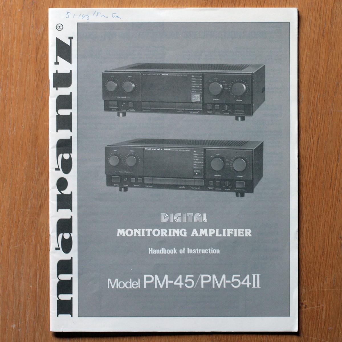 Marantz • Amplificateur • PM-45 & PM-54 II • Manuel utilisateur • User manual • Bedienungsanleitung • Manual de instrucciones • Instruzioni per l'uso