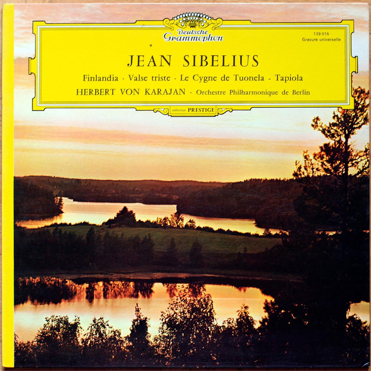 Sibelius • Finlandia • Valse Triste • La Valse • Le cygne de Tuonela • Tapiola • DGG 139 016 • Berliner Philharmoniker • Herbert von Karajan