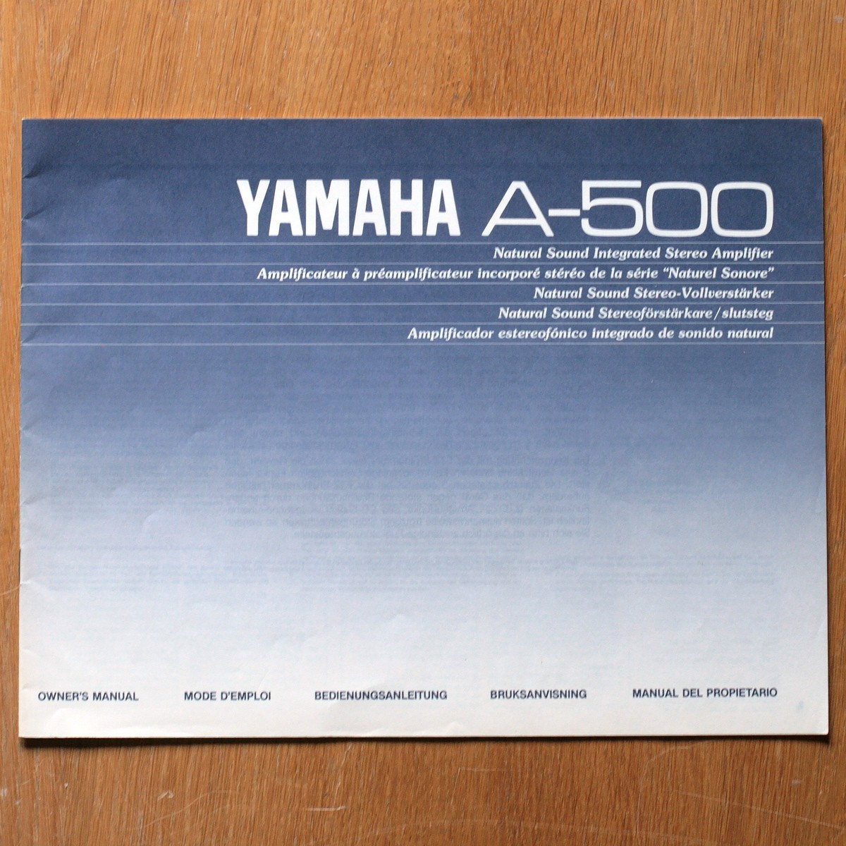 Yamaha • Amplificateur • A-500 • Manuel utilisateur • Owner's manual • Bedienungsanleitung • Bruksanvisning • Manual del propietario